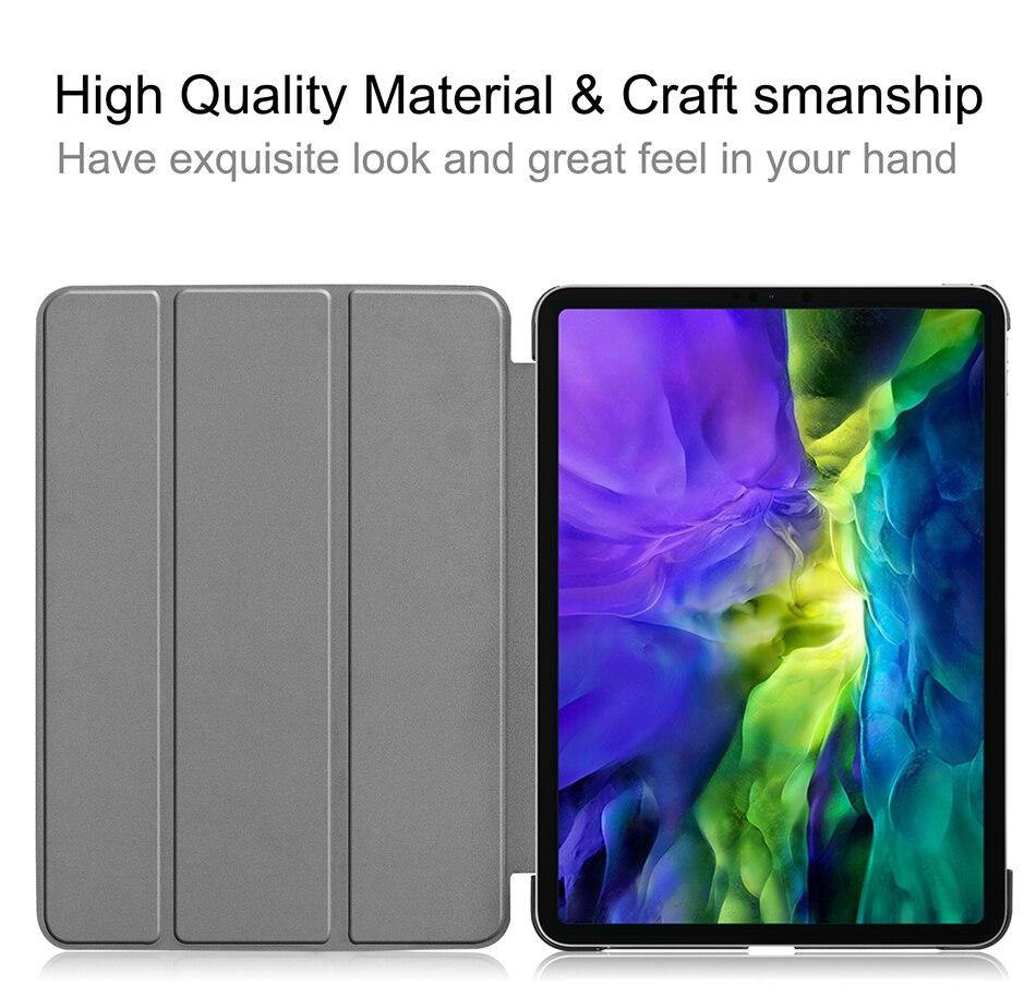 Gen Leather A2231 inch PU 2020 For Tri-Fold A2228 11 MTT Case Pro 2nd iPad Slim Funda