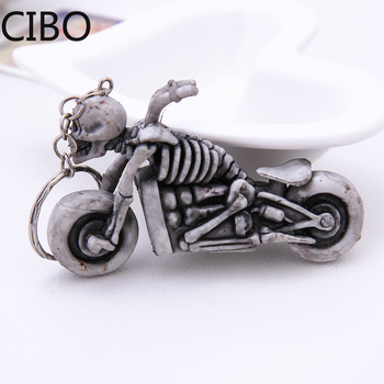 2019 New Skeleton Skull Motorcycle Autobike Keychains Keyrings Key Chains Purse Bag Pendant For Car llaveros image