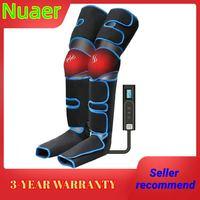 Masajeador de piernas para la presión del aire del pie, masajeador corporal para la circulación sanguínea, relajación muscular, dispositivo de drenaje linfático, 360 °