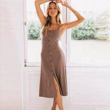 Винтажное женское платье миди на бретельках 2020 v образный