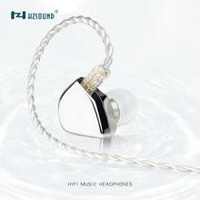 Hzsound coração espelho 1dd 10mm de carbono nanômetro diafragma driver no ouvido fone alta fidelidade dj fone ouvido