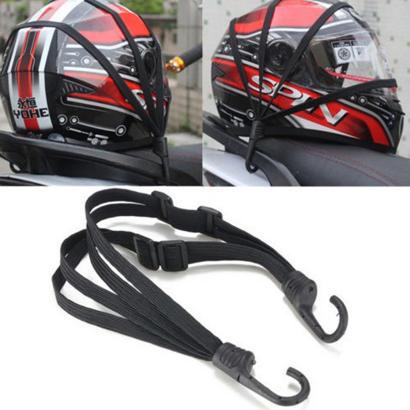 Pour casque de moto, 2 crochets, sangle tendeur élastique, sangle rétractable, pour bagage, boucle support de ceinture, longueur maximale