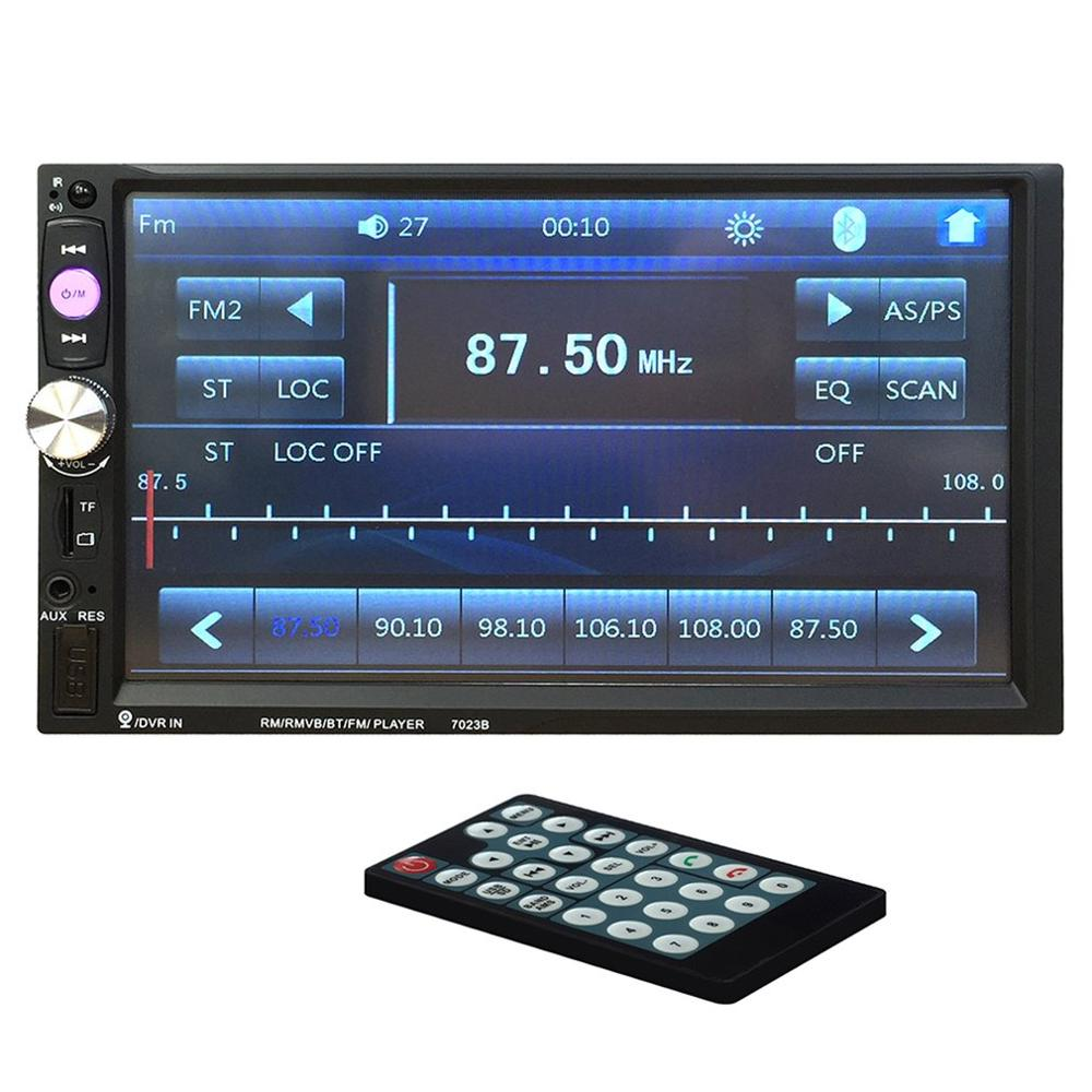 7023B Auto Car Double Din Car DVD Player 7 Inch Touch Screen TFT Media Radio MP5 Player Rear View Camera Input