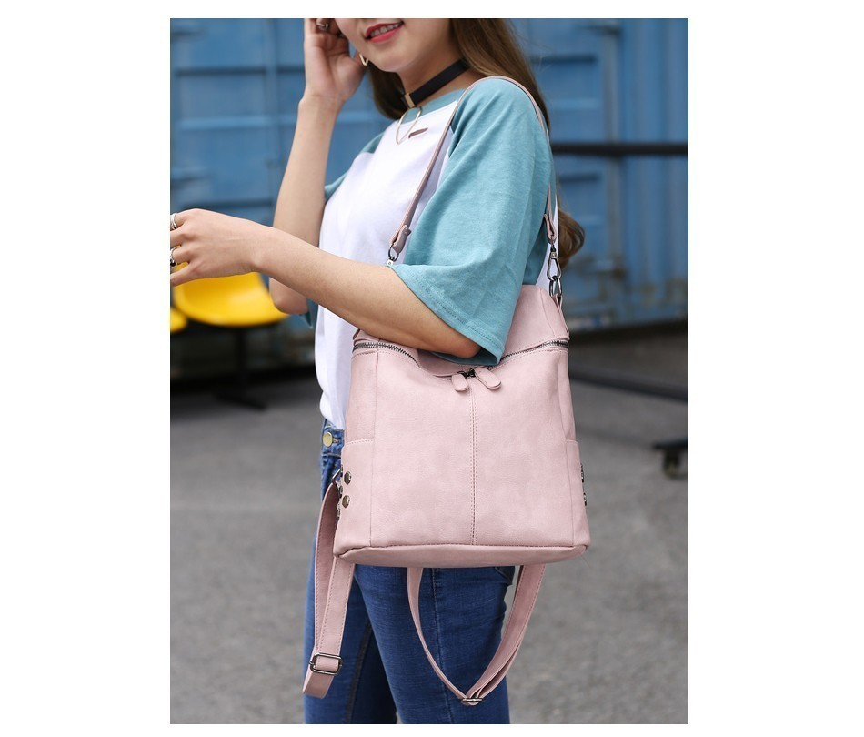 H11e52df0ba844a5ab8b921b54b93457dU Herald Fashion Women's PU Leather Backpack School Bags For Teenage Girls Large Capacity Backpack Laptop Bag Drop Shipping