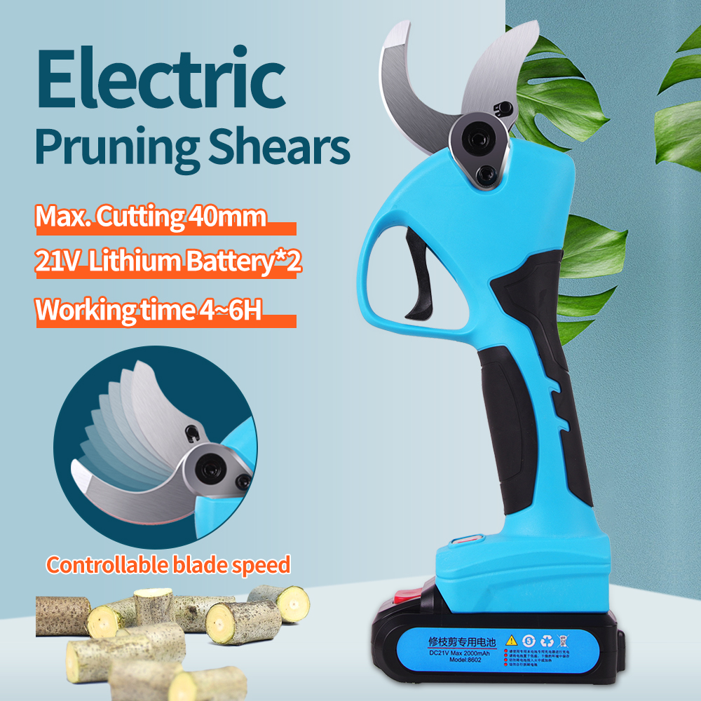 SWANSOFT 21V Cordless Pruner Lithium-ion Pruning Shear Efficient Fruit Tree Bonsai Electric Tree Branches garden tools electric
