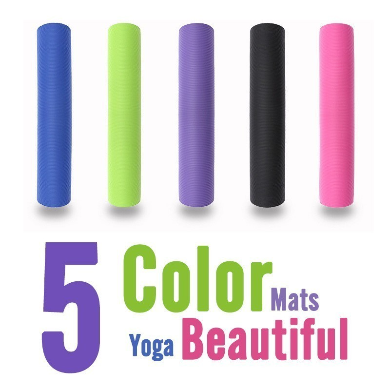 Image 3 - 183X60X15MM Non slip Yoga Mats For Fitness Mat Tasteless Pilates Gym Exercise Thickening Fitness Sports Pad Supporting DIY Print-in Yoga Mats from Sports & Entertainment