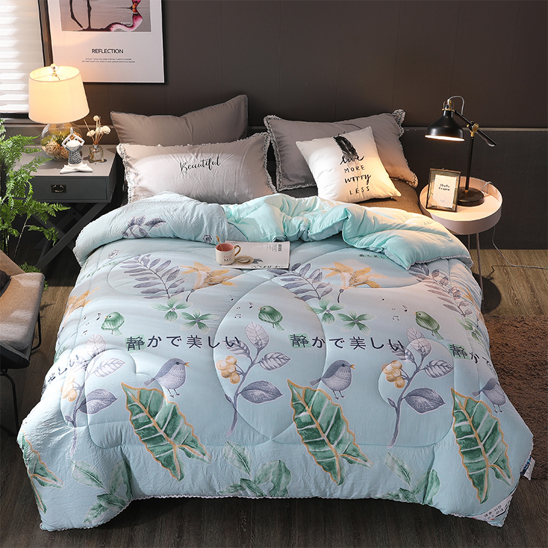 New Design Quilt Twin/queen/king Size Patchwork Bedding Comforter Home Duvet Thick Warm Quilts Luxury Printed Winter Blanket