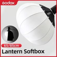 Godox 65Cm Of 85Cm Lantaarn Opvouwbare Quick Install Draagbare Ronde Vorm Softbox Licht + Rok Voor Bowens mount Studio Flash