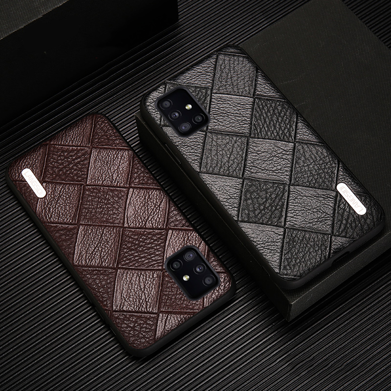 Luxury Genuine Leather phone <font><b>case</b></font> <font><b>for</b></font> Galaxy a51 a71 <font><b>samsung</b></font> s20 ultra s20plus s10 lite plus s9 <font><b>shockproof</b></font> back cover business image