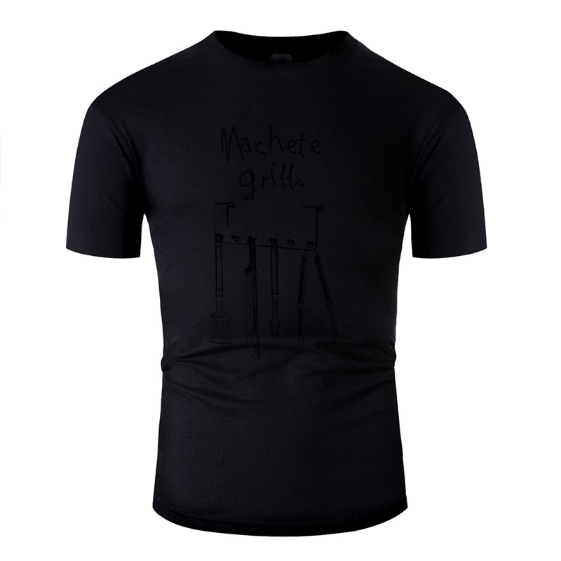 >Fashion Machete Grills Bbq Tshirt Men Round <font><b>Neck</b></font> <font><b>Streetwear</b></font> Famous Adult Tshirts Hiphop Tops