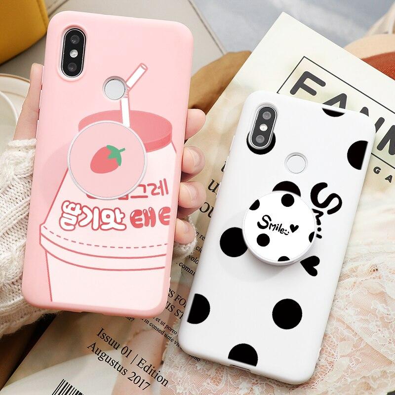 Cartoon Couples Stand Holder Case For Xiaomi Redmi Note 8T 8 7 6 5 K30 K20 8A Mi 9 SE A3 Lite A2 A1 9T Pro Note 10 Cover Fundas