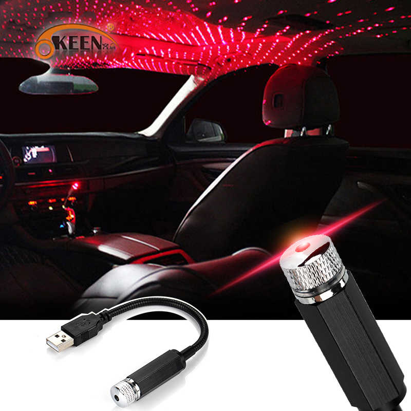 Mini Led Auto Dak Star Night Lights Projector Licht Interieur Ambient Sfeer Galaxy Lamp Decoratie Licht Usb Plug