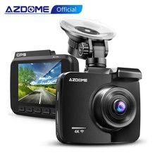 AZDOME 2160P GS63H Автомобильный видеорегистратор GPS 4K WIFI камера с двойным объективом 1080P камера заднего вида супер видеорегистратор ночного видения 24H режим парковки