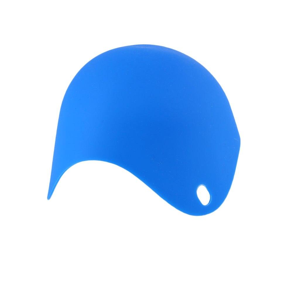 DIY натуральный силиконовый яичный котел Защита окружающей среды яйцо Пароварка многоцветный - Цвет: Blue
