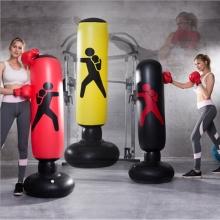 New Inflatable PVC Punching Post Tumbler boxing Wide Chassis as martial equipment Boxing gloves Roly-poly Sandbag