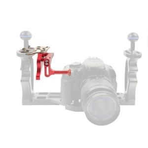 Image 3 - Adjustable Shutter Trigger Extension Rod Mount Adapter for DSLR SLR Diving Camera Underwater Waterproof Housing Case Accessories