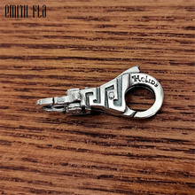 Genuine 925 Sterling Silver Charms Vintage Lobster Lock Clasp for Women Fit for European Charm Bracelets DIY Jewelry Accessories