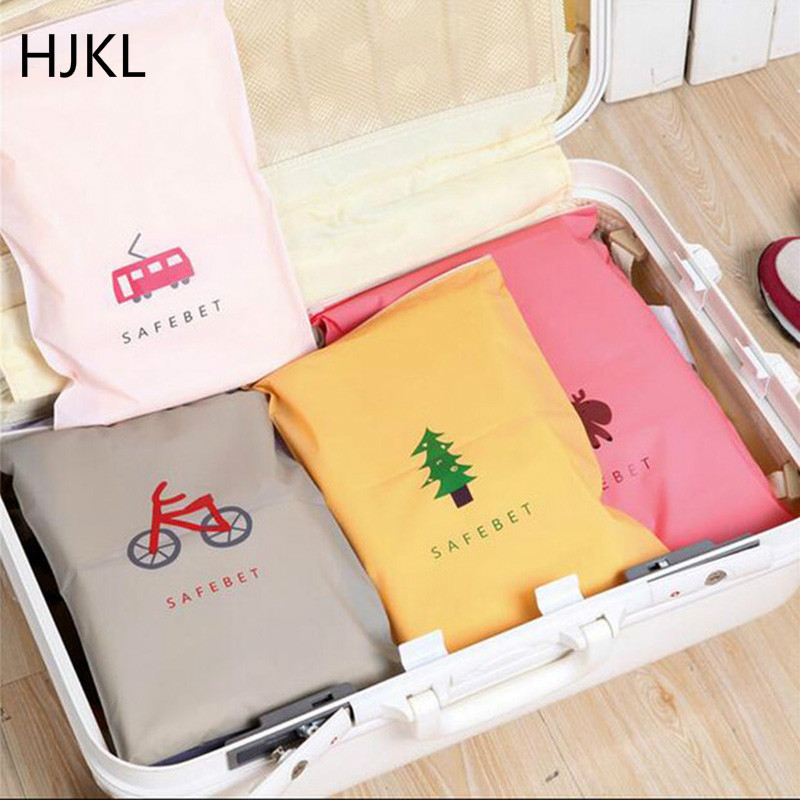 Travel Foldable Storage Bags Fashion Organizer Bag For Clothing Underwear Socks Shoes With Zipper Storage Bag Travel Accessories