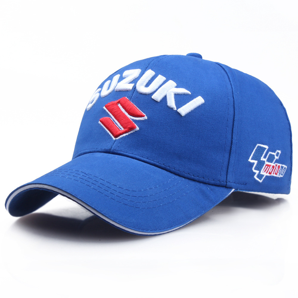 Baseball Cap <font><b>SUZUKI</b></font> logo Embroidery Casual Snapback Hat 2019 New Fashion High Quality Man Racing Motorcycle Outdoors Sport hat image