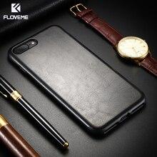 [Ретро кожа «Крейзи Хорс»] FLOVEME кожаный телефон чехол для iPhone 7 11 Pro Чехол для iPhone 6S 6 Plus X XS Max XR чехол Capa Coque