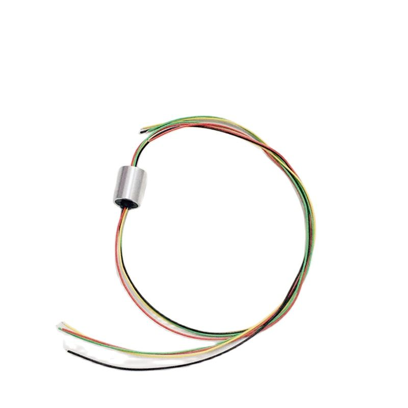 1pc U-Shaped Mini Conductive Slip Ring Dia 12.5mm 4Channels 360° Rotating Electric Collecting Joint for CCTV Security Monitoring