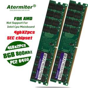 New 8GB 2pcs X 4GB 800 DDR2 PC2-6400 800MHz For Desktop PC DIMM Memory RAM 240 pins For AMD System High Compatible SEC Chipset
