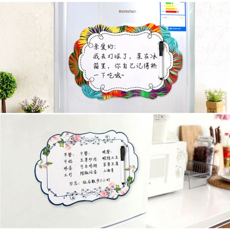 European Soft Magnetic Whiteboard Reminder Magnet Dry Erase Fridge Message Board
