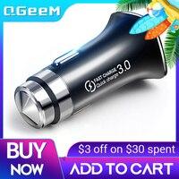 QGEEM QC 3,0 USB Auto Ladegerät Sicherheit Hammer Quick Charge 3,0 Auto Schnell Ladegerät Telefon Lade Adapter für iPhone Xiaomi mi 9 Redmi
