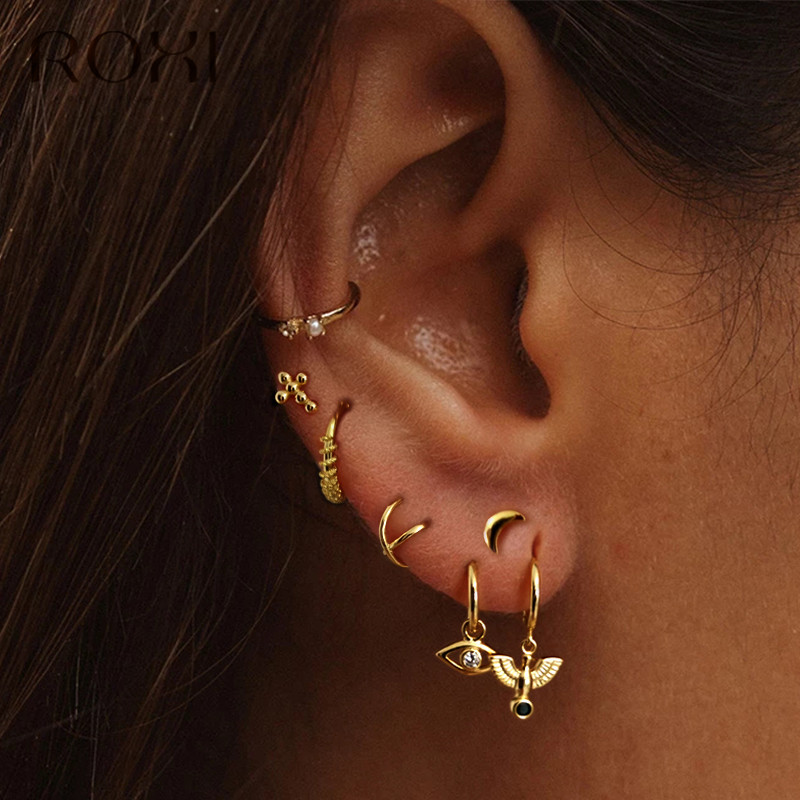 ROXI Fashion Korean Women's Earring 925 Sterling Silver Pigeon Pendant Stud Earrings For Women Gift Brincos Small Animal Earring