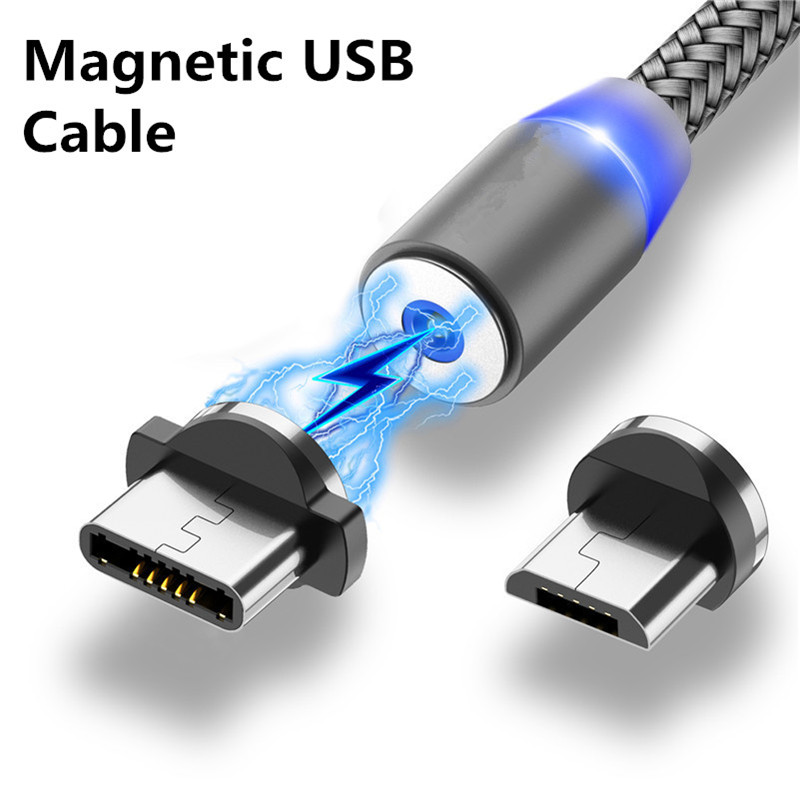 Fast Charging Mobile Phone Magnetic USB Cable LED For iphone Huawei honor 20 pro lite