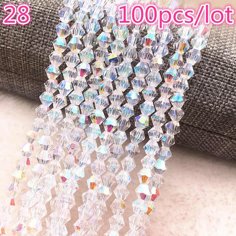 Großhandel 4mm 100 stücke Österreich Kristall Perlen charme Glas Perle Lose Spacer Perlen für Schmuck Machen DIY Ohrringe Armband