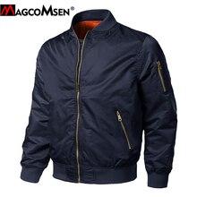 MAGCOMSEN vestes dhiver pour hommes, manteau de pilote de bombardier, MA1, Baseball rembourré, coupe vent militaire, décontracté