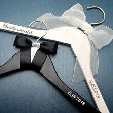Персонализированная Свадебная Вешалка для невесты и жениха, Свадебные вешалки для платьев, вешалка для свадебного душа, подарок для свадебных пар