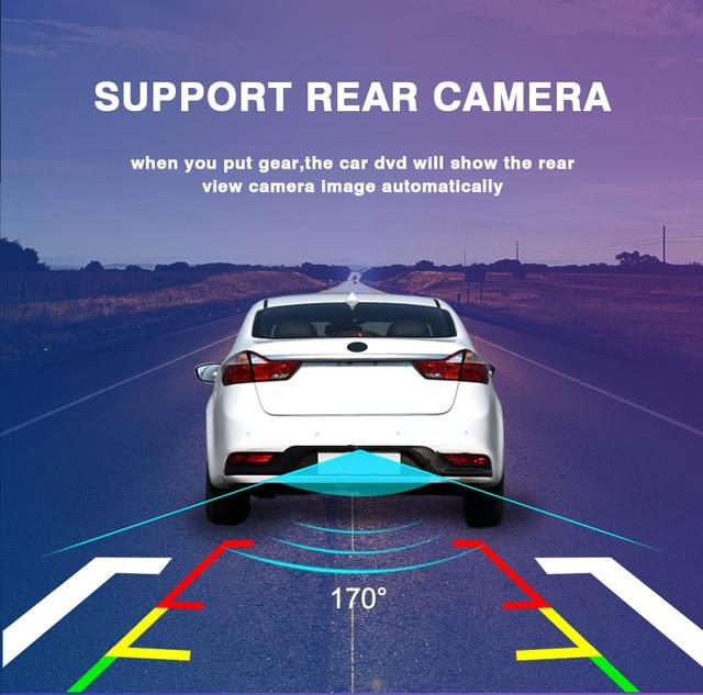 Pour Toyota-t Fortuner HILUX Revo Vigo autoradio stéréo 2004-2014 Android 9.0 cadre en acajou lecteur multimédia Navigation GPS