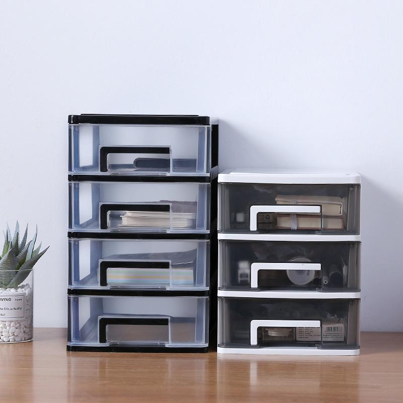 DIY Drawer Desk Storage Box Plastic Multi-layer Document Sundries Holder Makeup Box Mini Jewelry Cabinet Organizer Containers