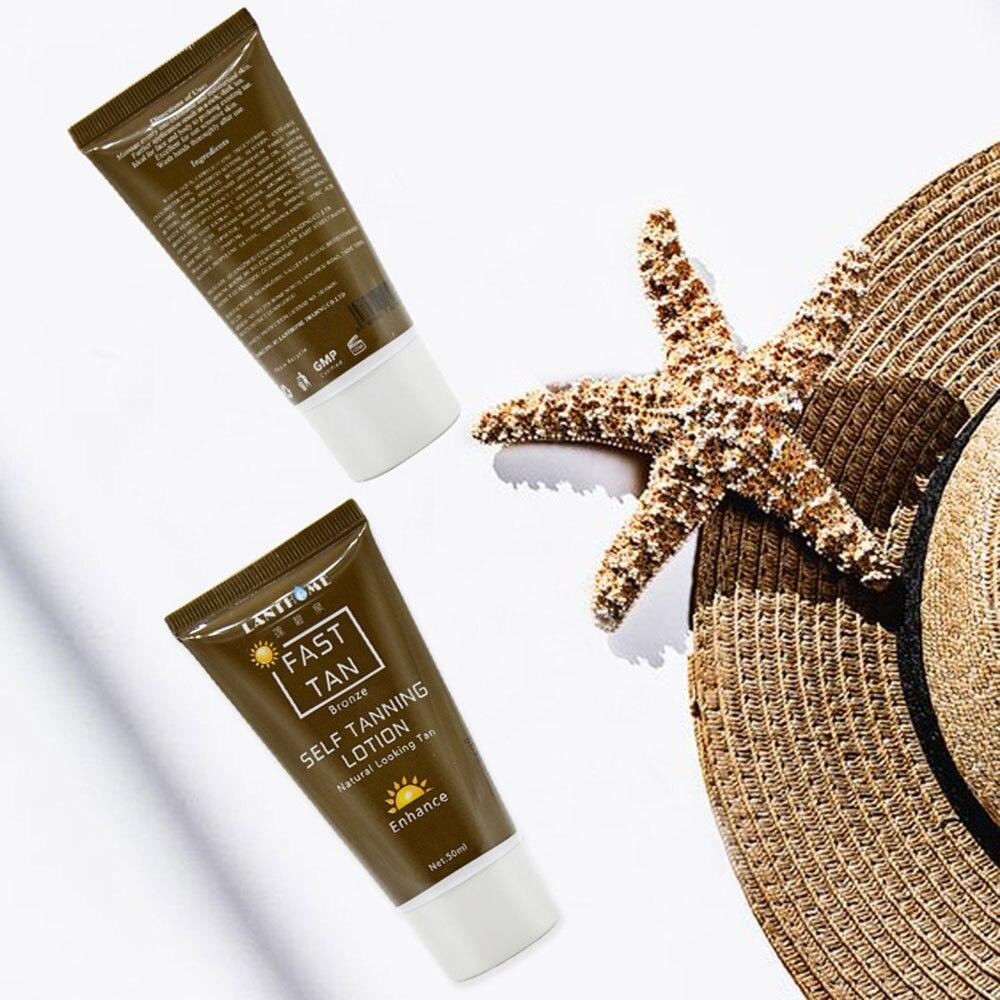 1 Pcs Tanning Cream Self-tanning Sunscreen Cream Tanning Salon Bronze Body Sunscreen Makeup Foundation Fast Spray Lotion 5