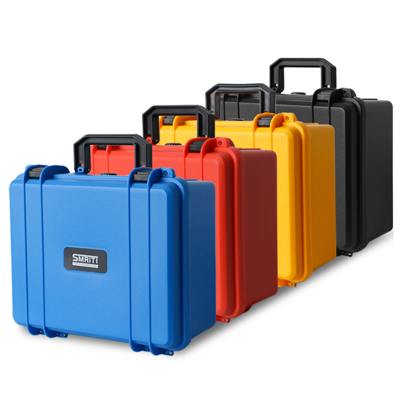 CN Safety Instrument Tool Box ABS Plastic Storage Toolbox Equipment Tool Case Outdoor Suitcase With Foam Inside