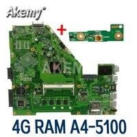 Placa base Amazoon X550WAK para ordenador portátil For Asus X550WAK X550WA X550WE X550W placa base original de prueba 4G RAM A4-5100