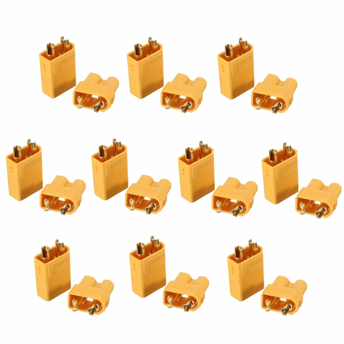 10Pcs XT60 XT30 5 Male 5 Female Bullet Connectors Plug For RC Quadcopter FPV Racing Drone Lipo Battery Tinywhoop