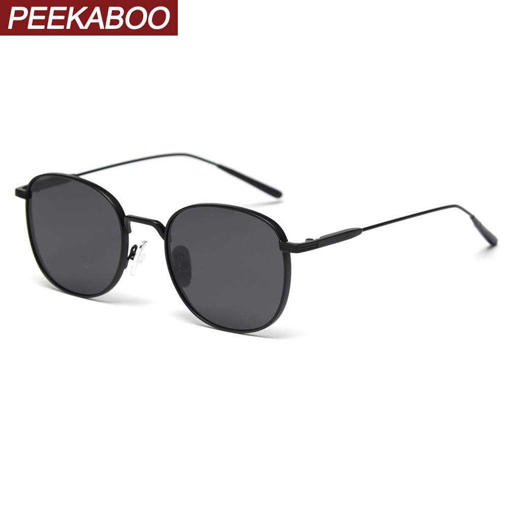 Peekaboo Women Square Sunglasses Polarized Uv400 Metal Frame Male Sun Glasses For Driving 2020 Summer High Quality Korean Style