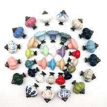 Perillas artesanales multicolores de aleación de cerámica, manijas de muebles Vintage, juego de tiradores para cajones, armario, herrajes para muebles