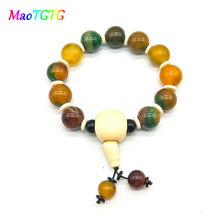 Fashion Natural Agates Bracelet  For Men Jewelry Handmade Friends Bracelets Creative Gifts
