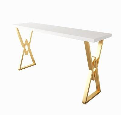 H1 Nordic Light Luxury Solid Wood Bar Table Ins Iron Art Home Milk Tea Bar Marble Dining Table Chair High Foot Long Table