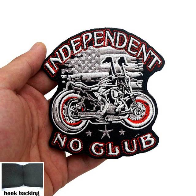 independent biker Biker patch biker 10 cm thermostick motorcycle badge for customizing clothing no club