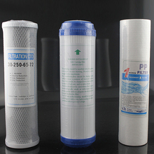 3ピース/ロット浄水器フィルター交換部品10インチgac pp + udf + ctoブロック水フィルター交換