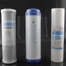 3 pçs/lote Purificador de Água Filtros de Peças Substituídas 10 polegadas PP + UDF GAC + CTO Bloco de Substituição Do Filtro De Água