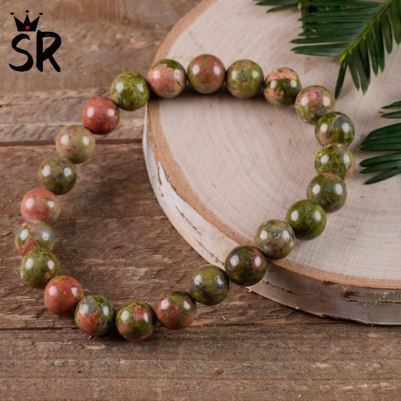 Unakite Stretch Bracelet Healing Gems Braclet Chakra Wrist Mala Beads Protection Bracelet Spiritual 8mm Natural Stone Bracelet