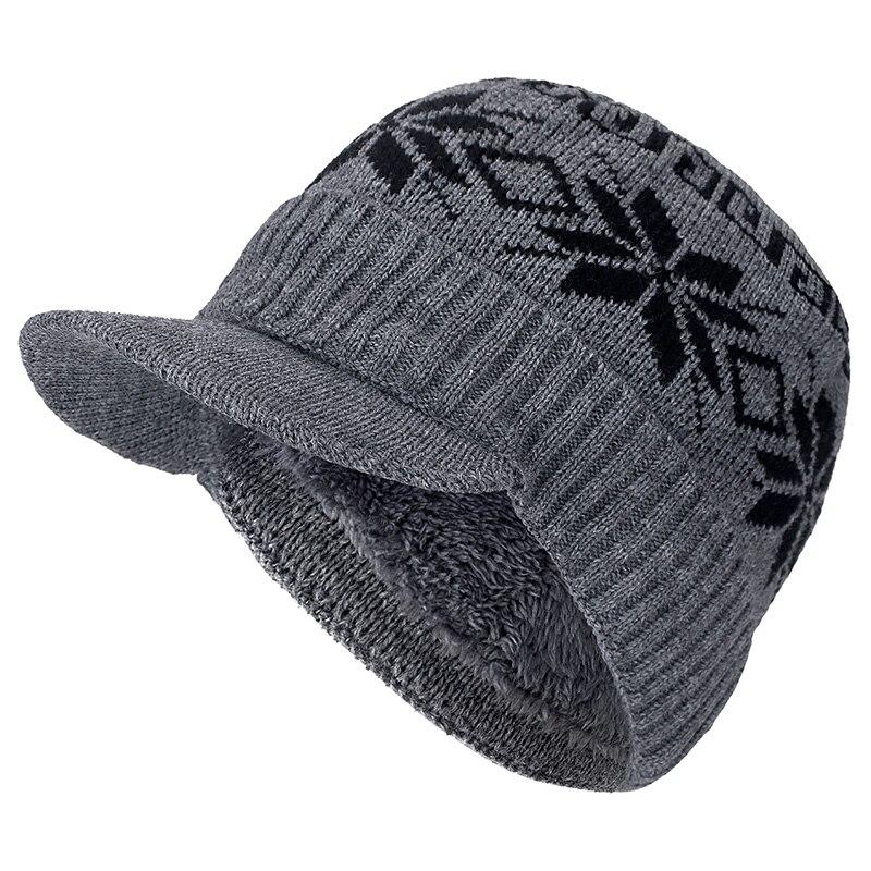 High Quality Cotton Add Fur Brim Winter Hats Skullies Beanies Hat For Men Women Wool Caps Mask Gorras Bonnet Knitted Hat