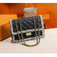 Female Bag 2021 Spring And Summer New Pearl Fashion Small Fragrance Rhombus Chain Bag Shoulder Messenger Bag