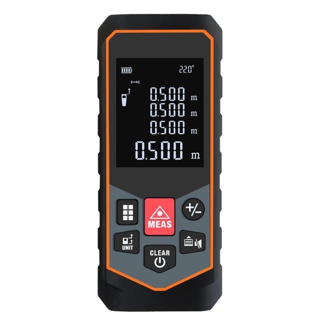 Mileseey  Laser Distance Meter 40M 60M 100M Laser Rangefinder Laser Range Finder Tape ruler Measure Area/volume Tool